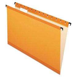 Esselte Pendaflex - ESS6153 1/5 ORA - Poly Laminate Hanging Folders, Legal, 1/5 Tab, Orange 20/Box