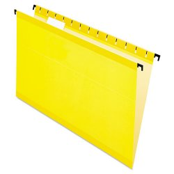 Esselte Pendaflex - ESS6153 1/5 YEL - Poly Laminate Hanging Folders, Legal, 1/5 Tab, Yellow, 20/Box