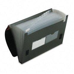 Esselte Pendaflex - 82011 - Esselte Company Expanding Files - Letter - 8 1/2 x 11 Sheet Size - 4 Expansion - 13 Pocket(s) - Plastic - Black - 14.56 oz - 1 Each