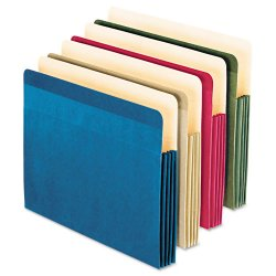 Esselte Pendaflex - 90164 - Esselte Recycled Colored File Pocket - Letter - 8 1/2 x 11 Sheet Size - 3 1/2 Expansion - 1 Pocket(s) - Blue, Green, Natural, Red - Recycled - 4 / Pack