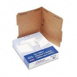 Esselte Pendaflex - FK213 - Esselte Fastener Folder - Letter - 8.5 x 11 - 2/5 Tab Cut - 2 Fastener - 2 Capacity - 50 / Box - 11pt. - Brown
