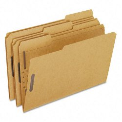 Esselte Pendaflex - FK312 - Esselte Fastener Folder - Legal - 8.5 x 14 - 1/3 Tab Cut - 2 Fastener - 50 / Box - 11pt. - Brown