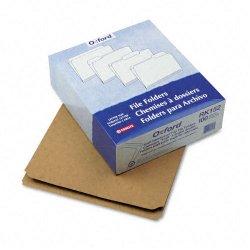 Esselte Pendaflex - RK152 - Esselte Double Ply Reinforced Top File Folder - Letter - 8.5 x 11 - Straight Tab Cut - 100 / Box - 11pt. - Brown