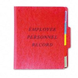 Esselte Pendaflex - SER-1-ER - Esselte Pendaflex Vertical Personnel Folder - Letter - 8.5 x 11 - 1/3 Tab Cut - 5 Dividers - 2 Expansion - 10 / Box - 20pt. - Red