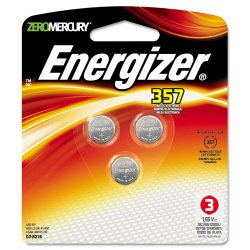Eveready - 357BPZ3 - Watch/Electronic Battery, SilvOx, 357, 1.5V, MercFree, 3/Pk
