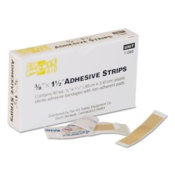 First Aid Only - 1080 - SmartCompliance Plastic Bandage, 3/8 x 1 1/2, 80/Box