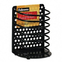 Fellowes - 22307 - Fellowes Perf-ect Pencil Holder - 4.9 x 3.5 x 3 - Steel, Metal - 1 Each - White, Gray