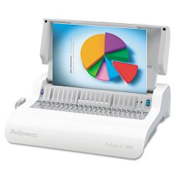 Fellowes - 5216701 - Medium Duty Office Machine With Convenient Electric Punching. Punches 15 Sheets