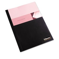 "Fellowes - 5222801 - Fellowes Thermal Heavy-gauge Binding Covers - 11"" Height x 8.5"" Width x 0.3"" Depth - 0.25"" Maximum Capacity - 60 x Sheet Capacity - Rectangular - Black, Clear - Polyvinyl Chloride (PVC) - 10 / Pack"