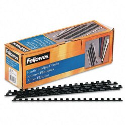 "Fellowes - 52366 - Fellowes 19-ring Plastic Comb Binding - 0.3"" Height x 10.8"" Width x 0.3"" Depth - 20 x Sheet Capacity - For Letter 8.50"" x 11"" Sheet - Round - Black - Plastic - 100 / Pack"
