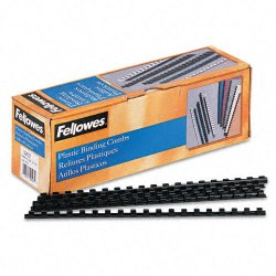"Fellowes - 52507 - Fellowes 19-ring Plastic Comb Binding - 0.3"" Height x 10.8"" Width x 0.3"" Depth - 40 x Sheet Capacity - For Letter 8.50"" x 11"" Sheet - Round - Black - Plastic - 100 / Pack"
