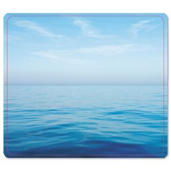"Fellowes - 5903901 - Fellowes Recycled Mouse Pad - Blue Ocean - 8"" x 9"" x 0.1"" Dimension - Multicolor - Rubber - Scratch Resistant, Skid Proof"