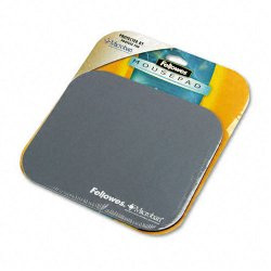 "Fellowes - 5934001 - Fellowes Microban Mouse Pad - 0.1"" x 9"" x 8"" Dimension - Graphite - Polyester, Rubber - Wear Resistant, Tear Resistant, Scratch Resistant"