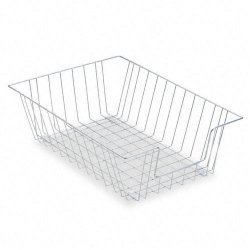 Fellowes - 65012 - Fellowes Wire 5 Legal Tray - Compartment Size 8.50 x 14 x 5 - 5 Height x 12 Width x 16.5 Depth - Desktop - Silver - Steel - 1Each