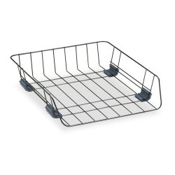 Fellowes - 66112 - Fellowes Wire Stacking Letter Tray - Compartment Size 8.50 x 11 x 3 - 2.6 Height x 10.9 Width x 12.6 Depth - Desktop - Black - Steel - 1Each
