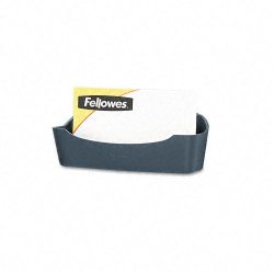 "Fellowes - 75274 - Fellowes Partition Additions Business Card Holder - 1.8"" x 4.1"" x 1.6"" - Plastic - 1 Each - Dark Graphite"