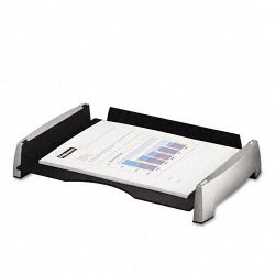 "Fellowes - 8031701 - Office Suites Letter Tray - 2.5"" Height x 14.8"" Width x 10.3"" Depth - Desktop - Black, Silver - Plastic - 1Each"