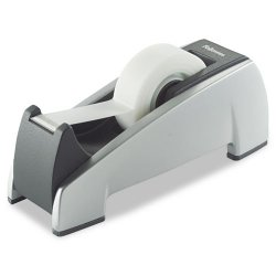 "Fellowes - 8032701 - Office Suites Desktop Tape Dispenser, 1"" Core, Plastic, Heavy Base, Black/Silver"