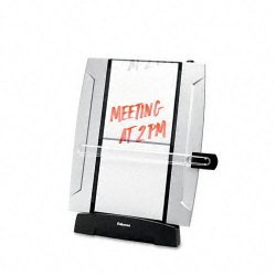 Fellowes - 8033201 - Office Suites Desktop Copyholder with Memo Board - 15 Height x 10.3 Width x 6 Depth - Black, Silver