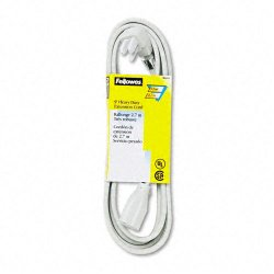 Fellowes - 99595 - Fellowes Heavy Duty Indoor 9' Extension Cord - 125 V AC Voltage Rating - 15 A Current Rating - Gray