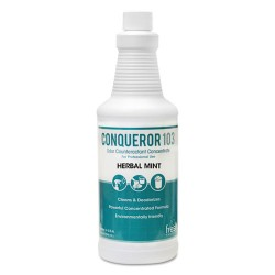 Fresh Products - 103Q-F-000I012M-05 - Conqueror 103 Odor Counteractant Concentrate, Herbal Mint, 32 oz Bottle, 12/Ctn
