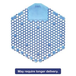 Fresh Products - 2WDS60CBL - Wave 3D Urinal Deodorizer Screen, Blue, Cotton Blossom, 10/Box, 60 Screens/Ct