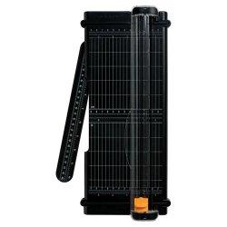 Fiskars - 01-005454 - Fiskars SureCut 12 Portable Paper Trimmer - Cuts 7Sheet - 12 Cutting Length - 1.4 Height x 16.9 Width x 6.7 Depth - Titanium Blade - Black