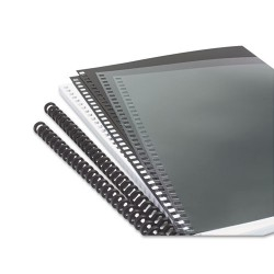 Wilson Jones - 2515665 - Instant Report Kit, 5/16 Capacity, Clear/Black Cover, Black Spine