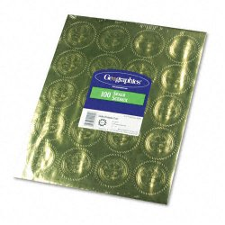 Geographics - 20014 - Self-Adhesive Embossed Seals, 2 Dia, Official Seal of Excellence, Gold, 100/PK