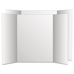 Geographics - 27135 - Too Cool Tri-Fold Poster Board, 36 x 48, Black/White, 6/PK