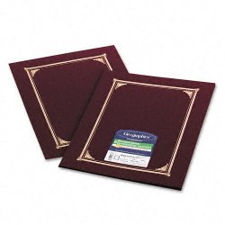 Geographics - 45333 - Geographics Linen Certificate Covers - Letter, A4 - 8 1/2 x 11, 10 x 8, 8 17/64 x 11 11/16 Sheet Size - Linen - Burgundy - Recycled - 6 / Pack