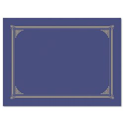 Geographics - 47401 - Geographics Award Certificate Gold Design Covers - A4, Letter - 8 19/64 x 11 45/64, 8 1/2 x 11, 8 x 10 Sheet Size - Metallic Blue - Recycled - 6 / Pack