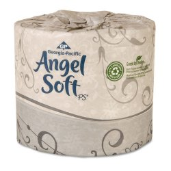 "Georgia Pacific - 16880 - Angel Soft PS Premium Embossed Bathroom Tissue - 2 Ply - 4"" x 4.05"" - 450 Sheets/Roll - White - Soft - For Food Service, Office Building - 80 / Carton"
