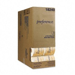 "Georgia Pacific - 18240 - Georgia-Pacific Preference 2-Ply Embossed Bathroom Tissue (Half Case) - 2 Ply - 4.05"" x 4.50"" - 550 Sheets/Roll - White - Perforated - For Washroom - 40 / Carton"
