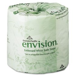Georgia Pacific - 19841/01 - Georgia-Pacific Envision 1-Ply Bath Tissue Rolls - 1 Ply - 4.05 x 4 - 550 Sheets/Roll - White - Soft, Durable, Absorbent - For School, Office Building - 40 / Carton