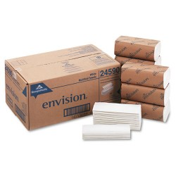 Georgia Pacific - 245-90 - Envision Multifold Paper Towels - White - Paper - Chlorine-free, Absorbent, Strong - For Multipurpose - 250 Sheets - 16 / Carton