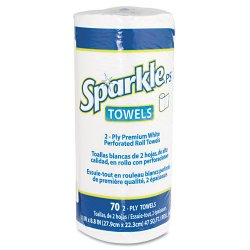 Georgia Pacific - 2717201RL - Sparkle ps Sparkle Premium Roll Towels - 2 Ply - White - Absorbent, Perforated - 70 / Roll