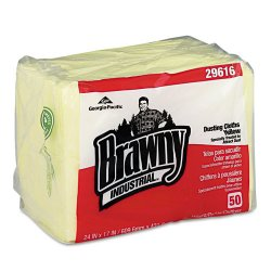 Georgia Pacific - 29616 - Brawny Industrial Dusting Cloths - Wipe - 17 Width x 24 Length - 50 / Packet - 50 / Pack - Yellow