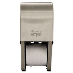 Georgia Pacific - 56782 - Georgia-Pacific Compact Stainless Steel Vertical Double Roll Bathroom Tissue Dispenser