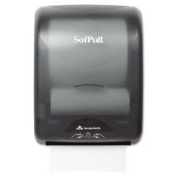 Georgia Pacific - 59499 - Georgia-Pacific SofPull Translucent Smoke Mechanical Water Resistant Hardwound Roll Towel Dispenser