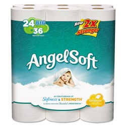 Georgia Pacific - 77239PK - Angel Soft PS Big Roll Angel Soft Bath Tissue - 2 Ply - 4 x 4 - 198 Sheets/Roll - White - Soft, Strong - 24 / Pack