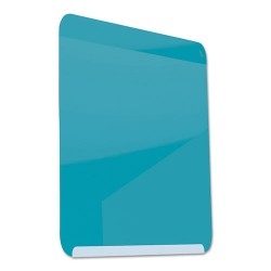 Ghent - LWB2418BB - Gloss-Finish Steel Dry Erase Board, Wall Mounted, 24-3/8H x 18W, Blue
