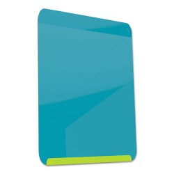 Ghent - LWB2418GB - Gloss-Finish Steel Dry Erase Board, Wall Mounted, 24-3/8H x 18W, Blue