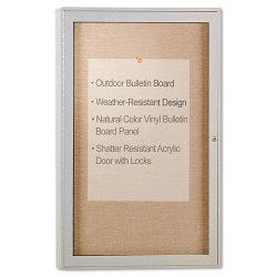 Ghent - PA13624VX-31 - Enclosed Outdoor Bulletin Board, 36 x 24, Satin Finish