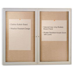 Ghent - PA23648VX-31 - Enclosed Outdoor Bulletin Board, 48 x 36, Satin Finish