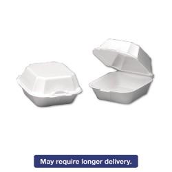 Genpak - GNP 22500 - Foam Sandwich Container, Large, 1-Comp, 5 5/8 x 5 3/4 x 3 1/4, White, 500/Carton