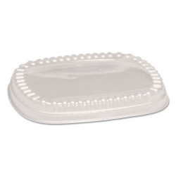 Genpak - 95026 - Plastic Dome Lid, Clear, 9 x 7 x 1, 125/Bag, 2 Bag/Carton