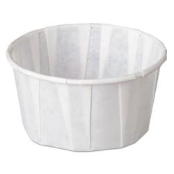 Genpak - F400 - Squat Paper Portion Cup, Pleated, 4 oz, White, 5000/Carton