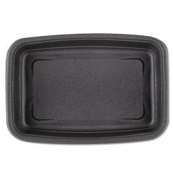 Genpak - FPR024-3L - Microwave-Safe Containers 24oz Plastic Black, 8-3/4x6-1/8x1-1/2, 75/BG 4 BG/CT