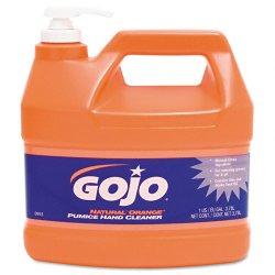 Gojo - 0955-04 - Natural Orange Pumice Hand Cleaner, Orange Citrus, 1gal Pump, 4/Carton